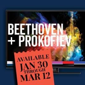 Beethoven + Prokofiev written in TV screen